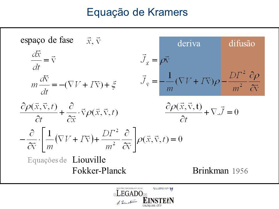 Equação de Kramers espaço de fase deriva difusão Liouville