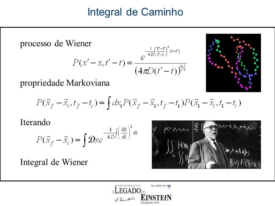 Integral de Caminho processo de Wiener propriedade Markoviana Iterando