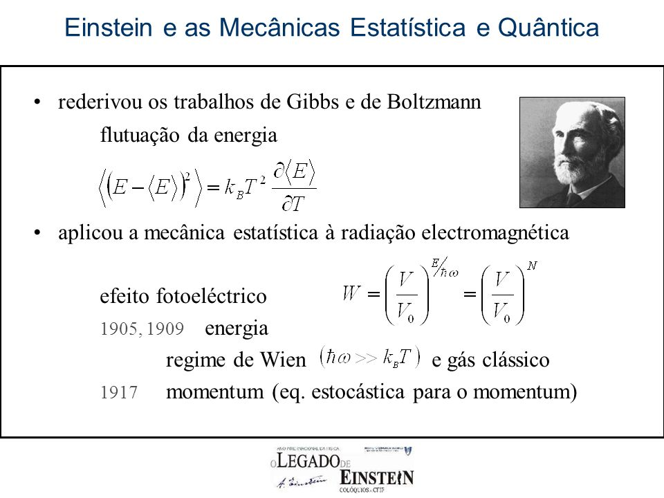Einstein e as Mecânicas Estatística e Quântica