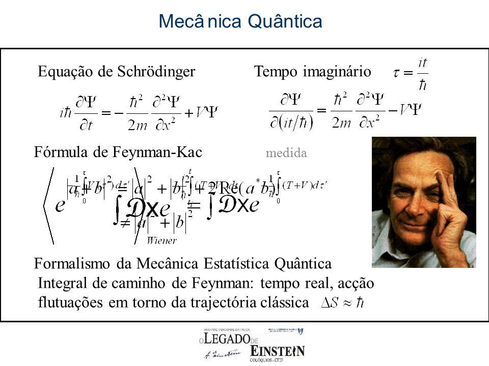 Mecâ nica Quântica Equação de Schrödinger Tempo imaginário