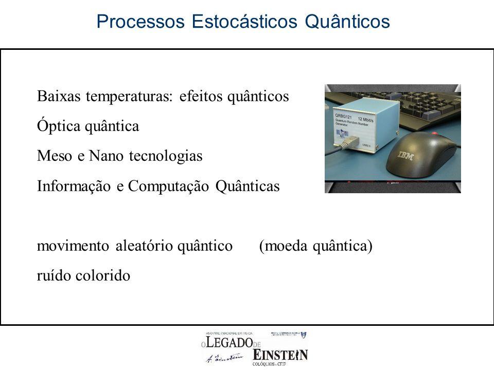 Processos Estocásticos Quânticos