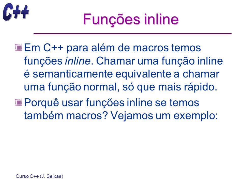 Funções inline