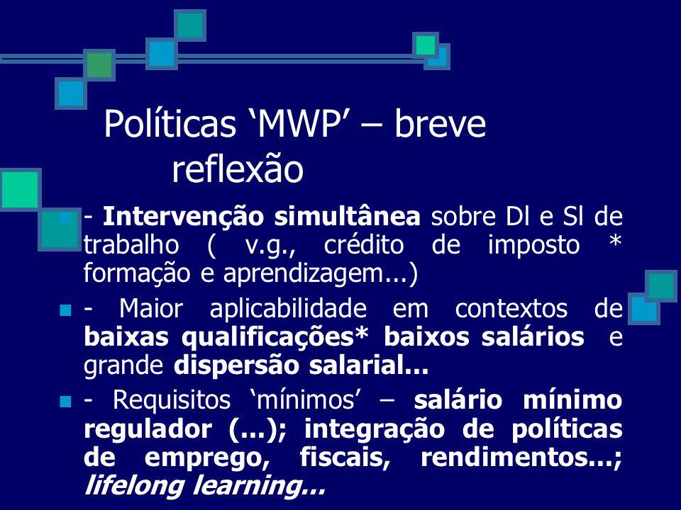 Políticas 'MWP' – breve reflexão