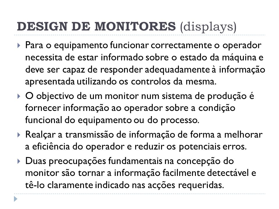DESIGN DE MONITORES (displays)