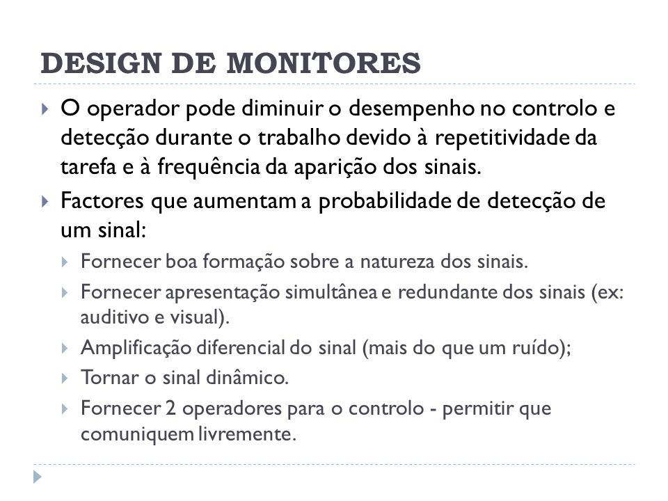 DESIGN DE MONITORES