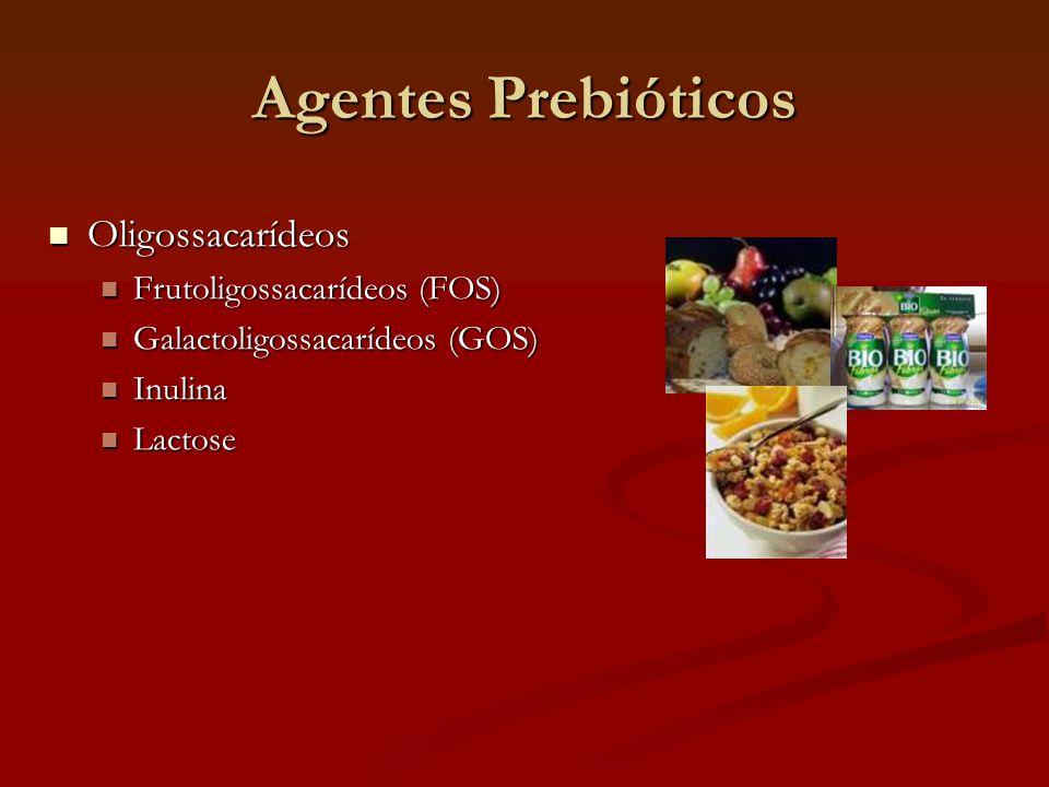 Agentes Prebióticos Oligossacarídeos Frutoligossacarídeos (FOS)