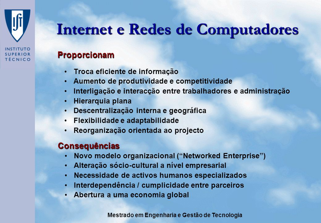 Internet e Redes de Computadores