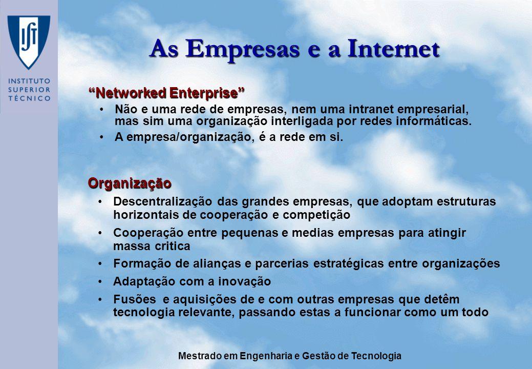 As Empresas e a Internet