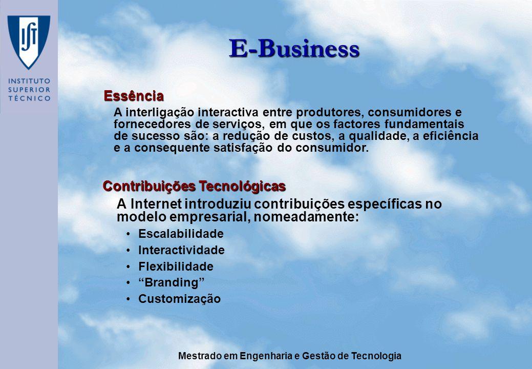 E-Business Essência Contribuições Tecnológicas