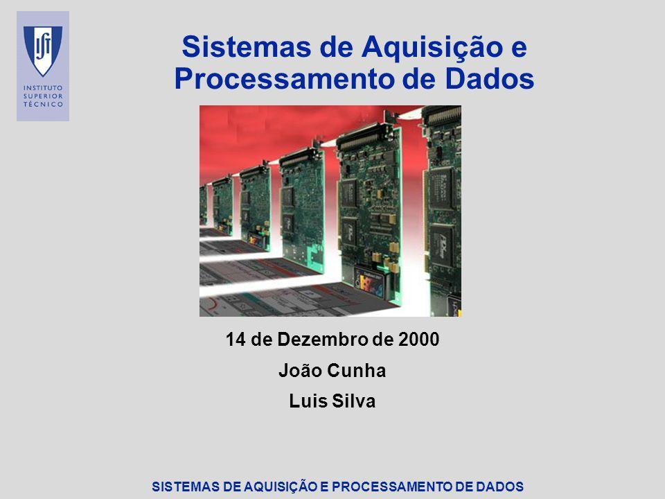 Sistemas de Aquisição e Processamento de Dados