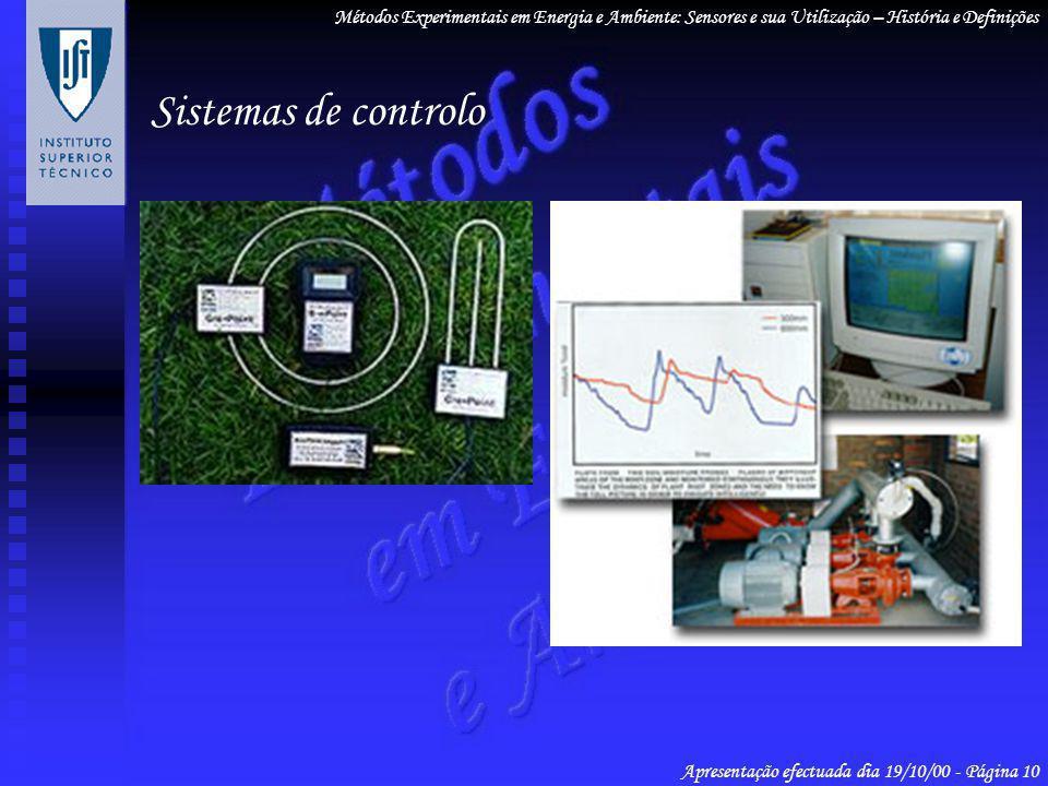 Métodos Experimentais em Energia e Ambiente: Sensores e sua Utilização – História e Definições