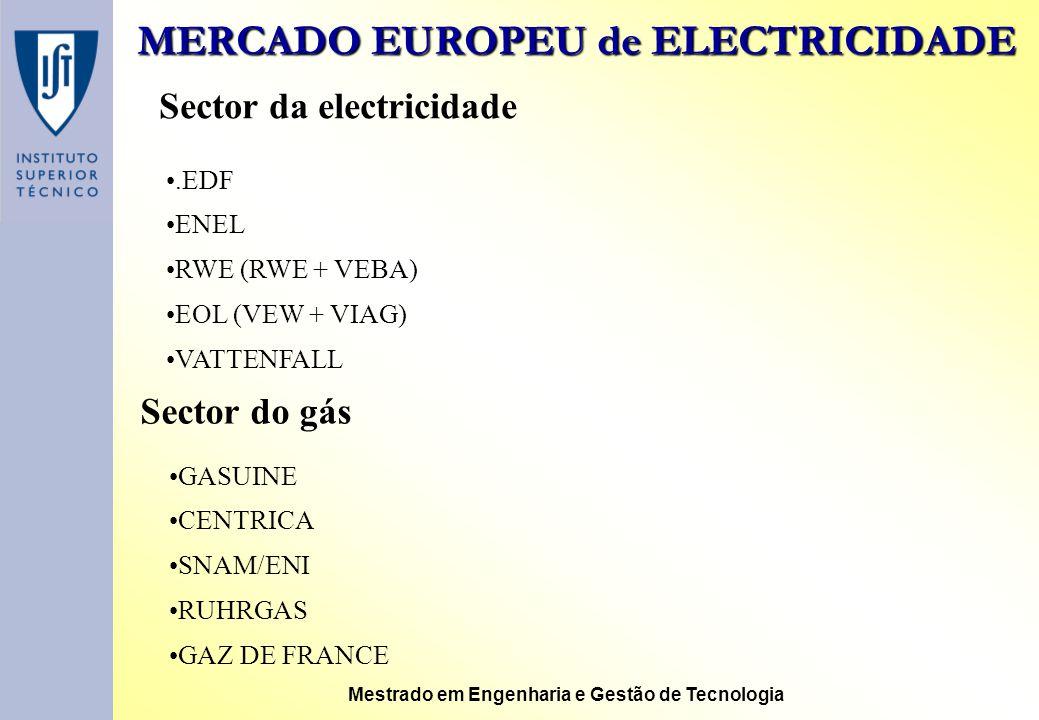 MERCADO EUROPEU de ELECTRICIDADE
