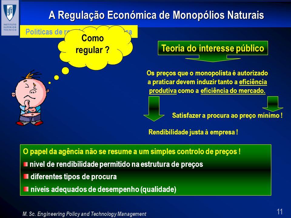Políticas de regulação económica Teoria do interesse público
