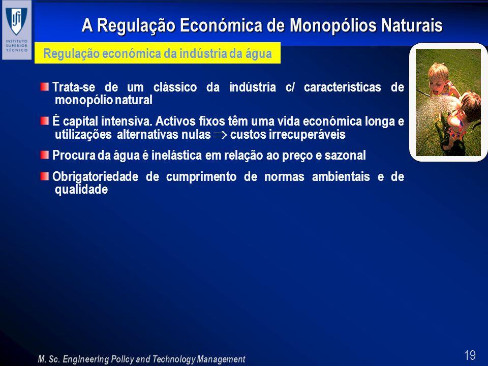 Regulação económica da indústria da água