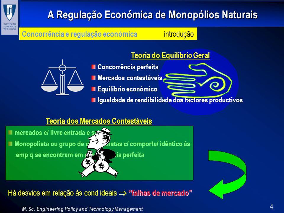 Teoria do Equilíbrio Geral Teoria dos Mercados Contestáveis