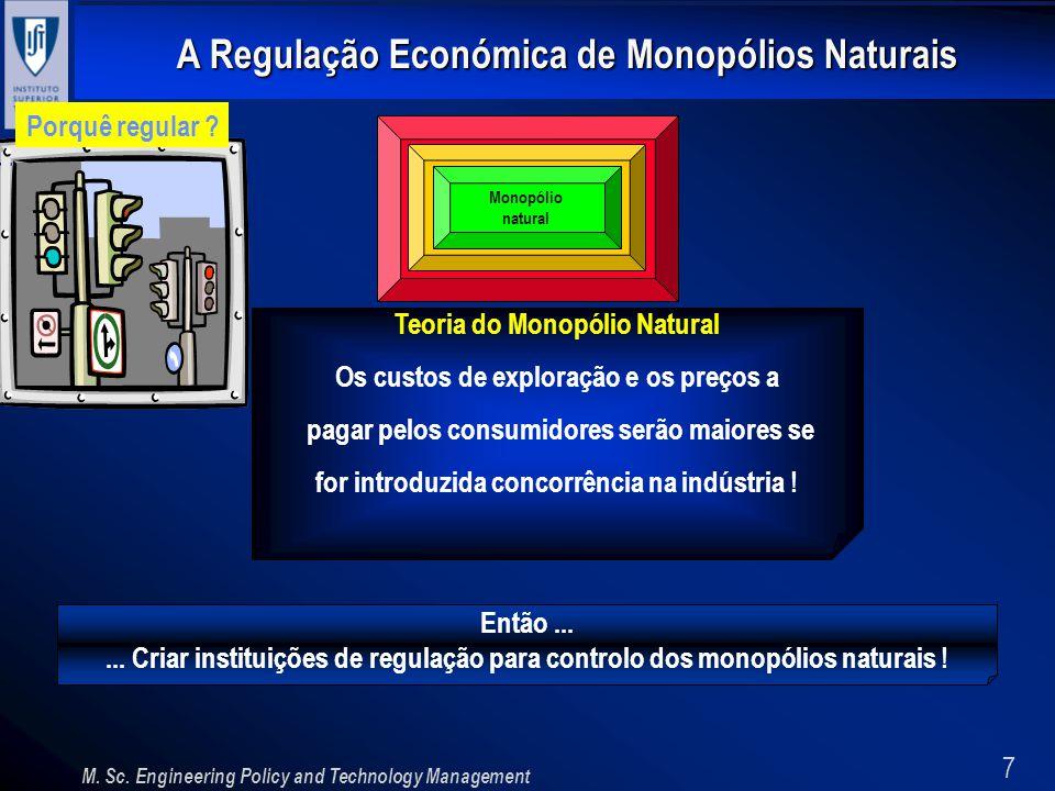 Teoria do Monopólio Natural Os custos de exploração e os preços a