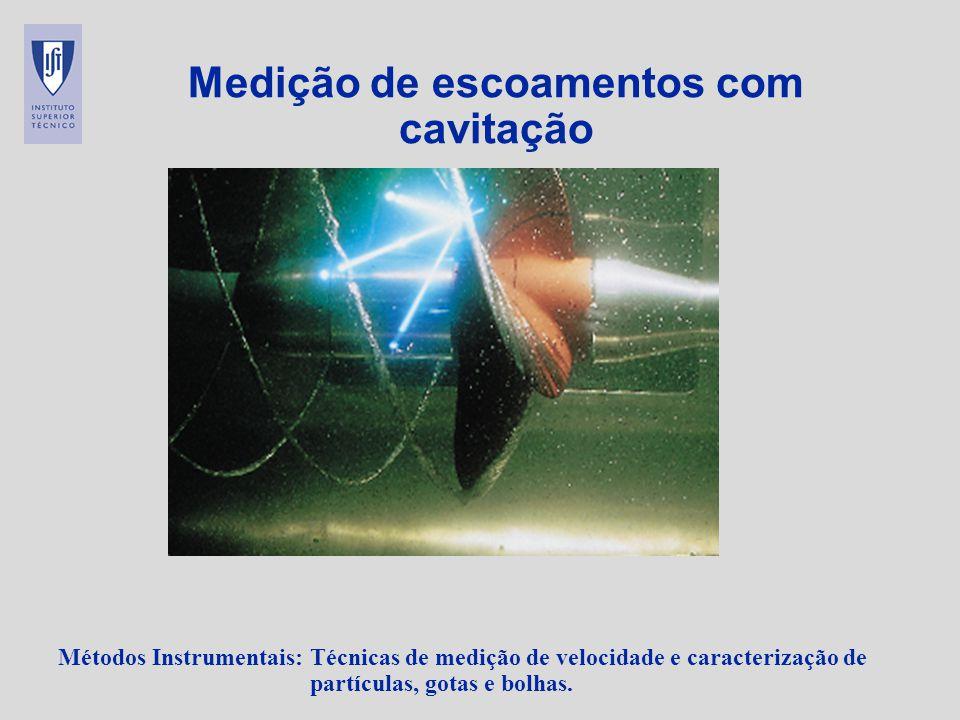 Medição de escoamentos com cavitação