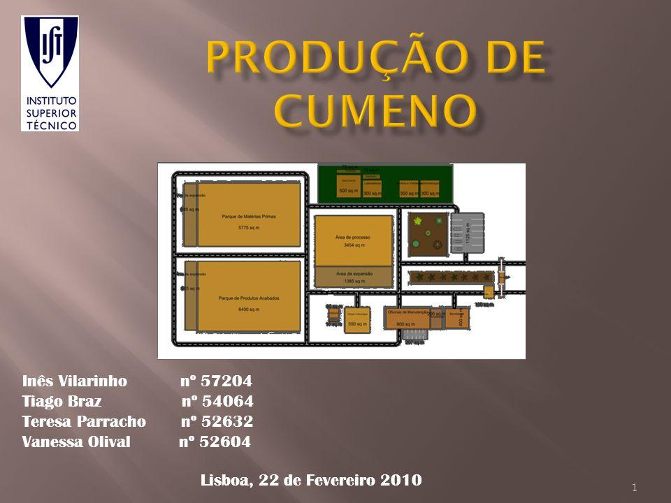 produção de cumeno Inês Vilarinho nº 57204 Tiago Braz nº 54064