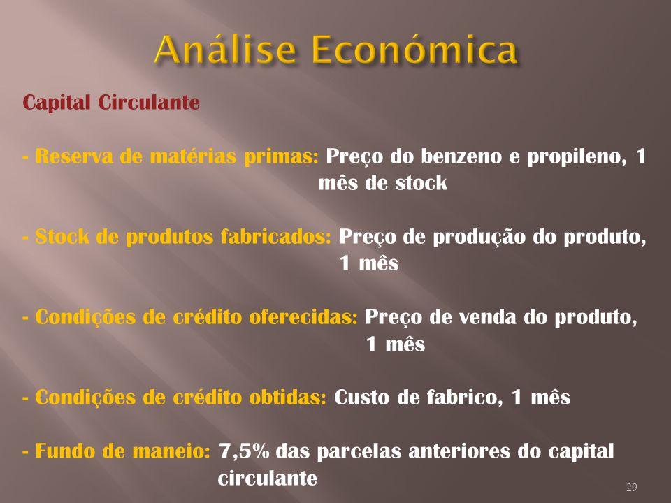 Análise Económica Capital Circulante