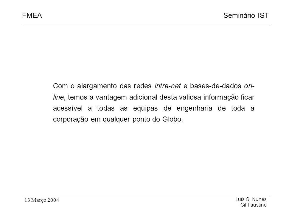 Com o alargamento das redes intra-net e bases-de-dados on-line, temos a vantagem adicional desta valiosa informação ficar acessível a todas as equipas de engenharia de toda a corporação em qualquer ponto do Globo.