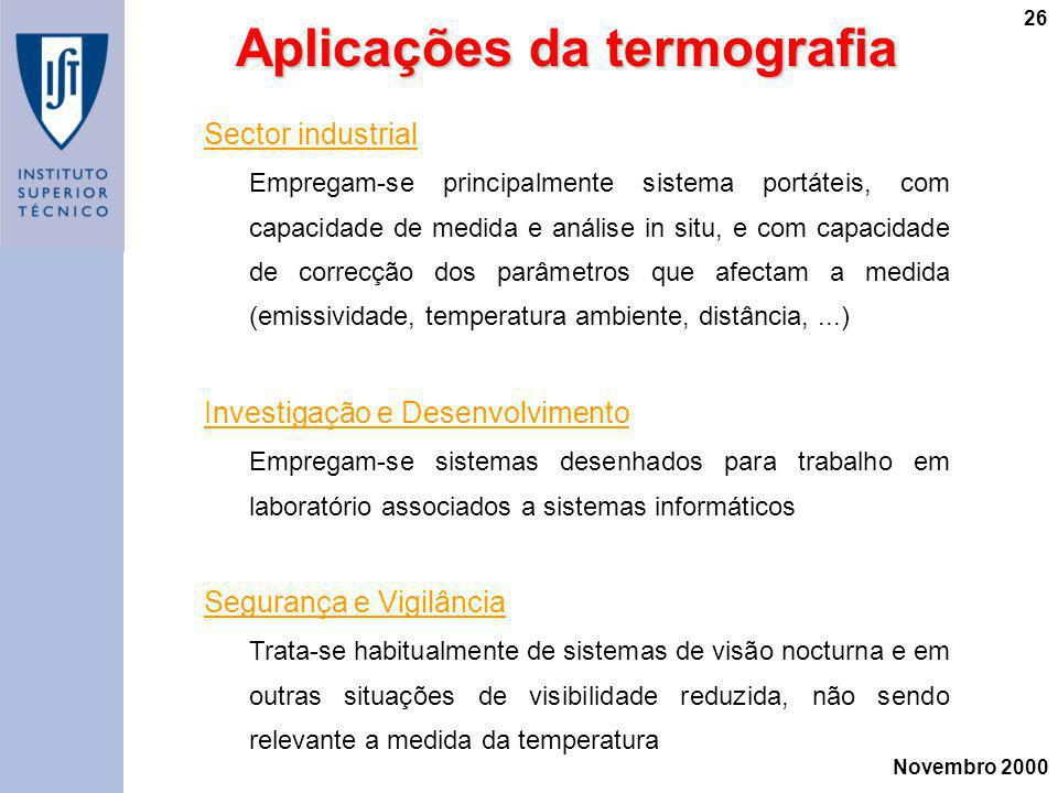 Aplicações da termografia