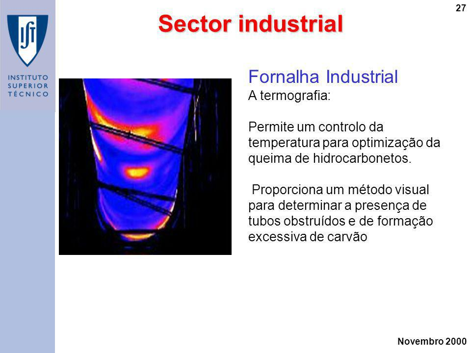 Sector industrial Fornalha Industrial A termografia: