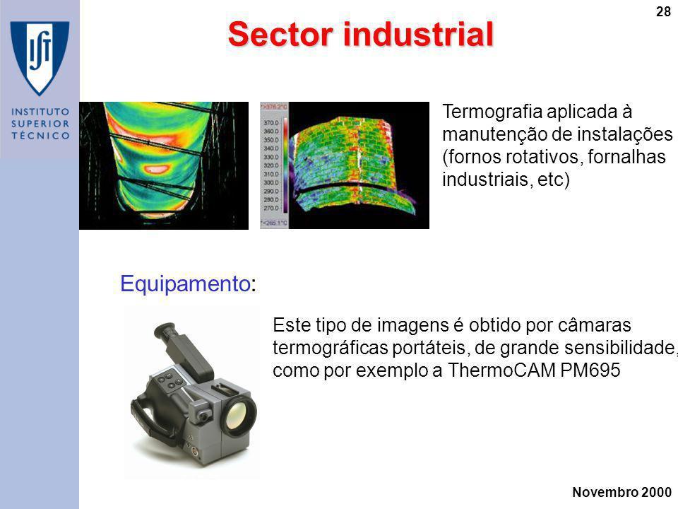 Sector industrial Equipamento: Termografia aplicada à