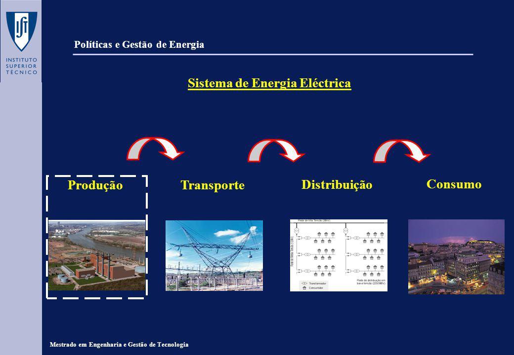 Políticas e Gestão de Energia Sistema de Energia Eléctrica