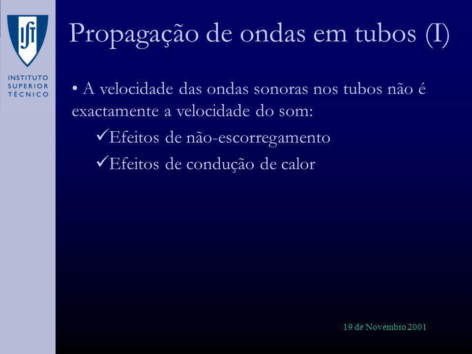 Propagação de ondas em tubos (I)