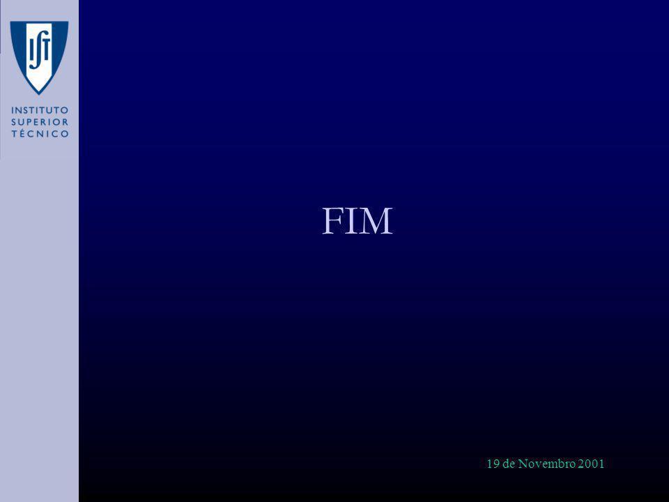 FIM 19 de Novembro 2001