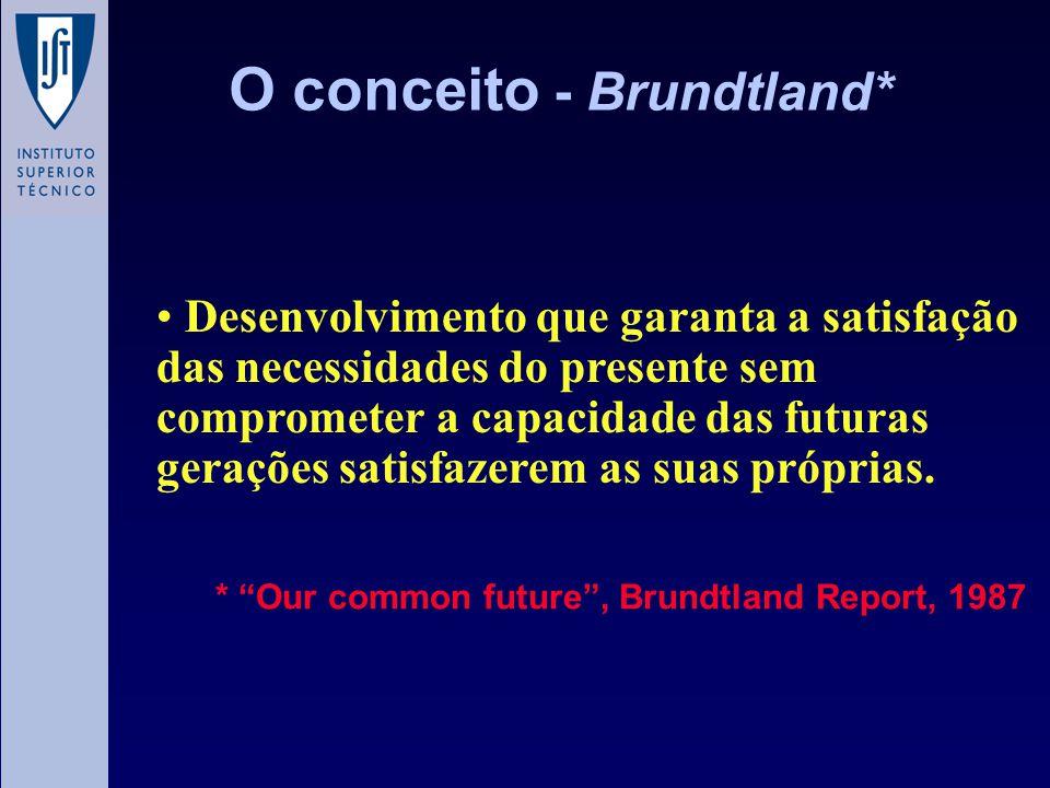 O conceito - Brundtland*