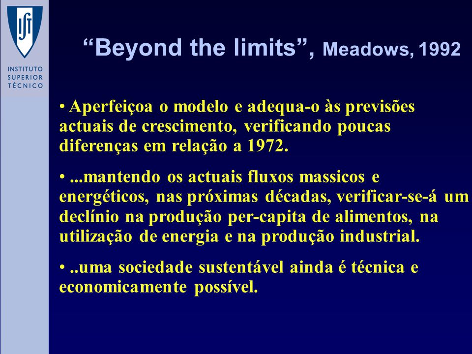 Beyond the limits , Meadows, 1992