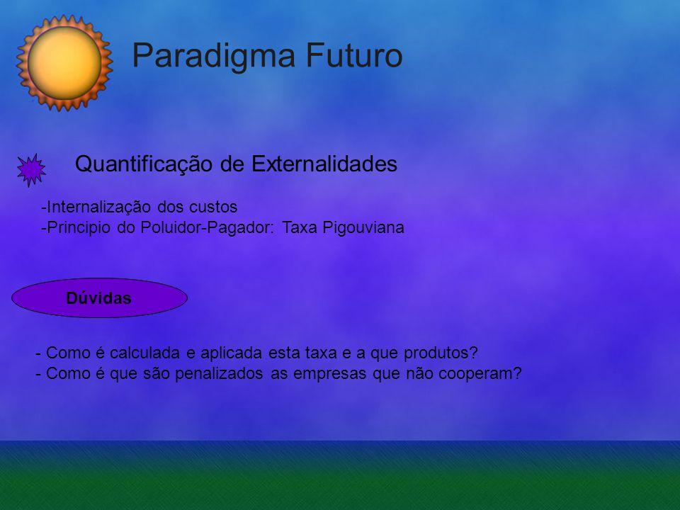 Paradigma Futuro Quantificação de Externalidades