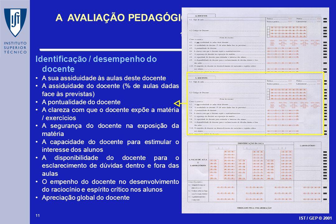 Identificação / desempenho do docente