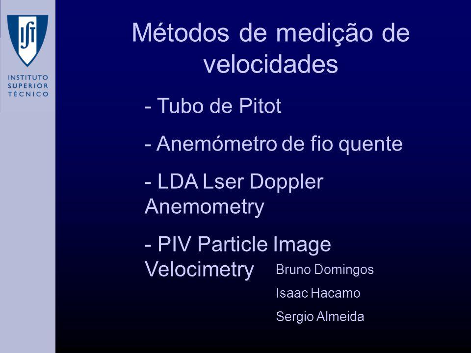 Métodos de medição de velocidades