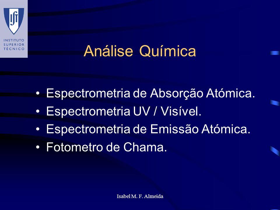 Análise Química Espectrometria de Absorção Atómica.