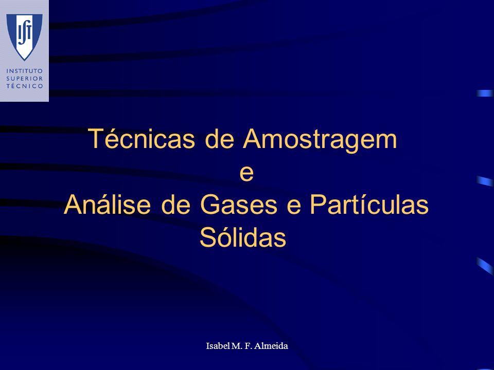 Técnicas de Amostragem e Análise de Gases e Partículas Sólidas