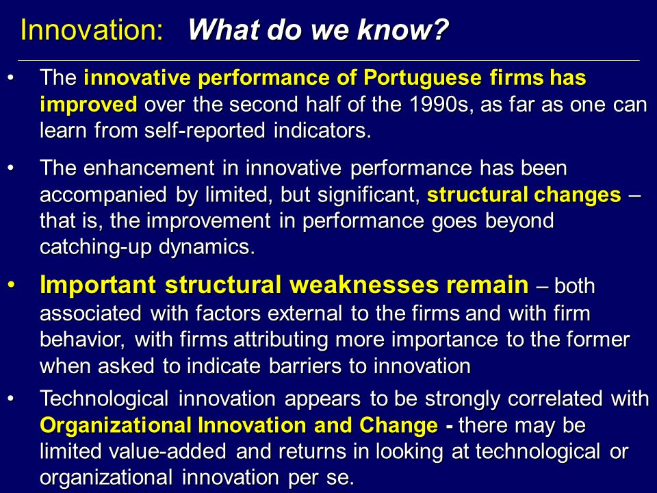 Innovation: What do we know