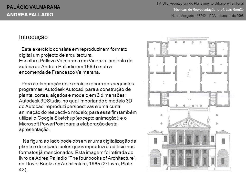Introdução PALÁCIO VALMARANA ANDREA PALLADIO