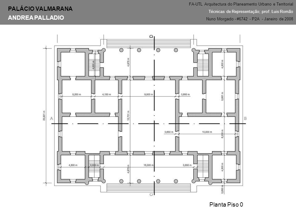PALÁCIO VALMARANA ANDREA PALLADIO Planta Piso 0