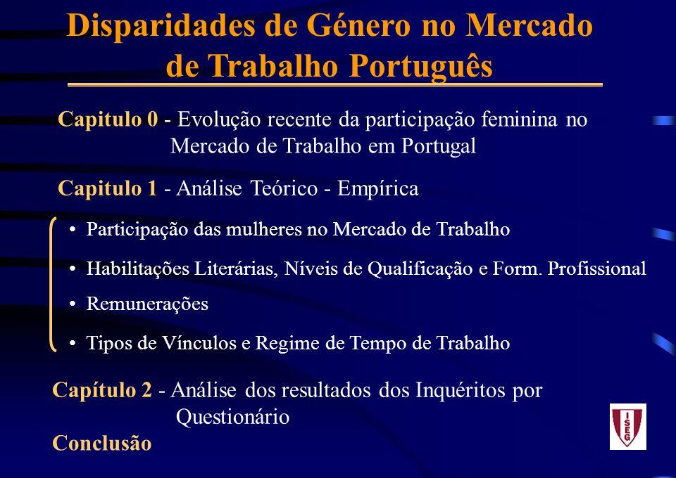 Disparidades de Género no Mercado de Trabalho Português