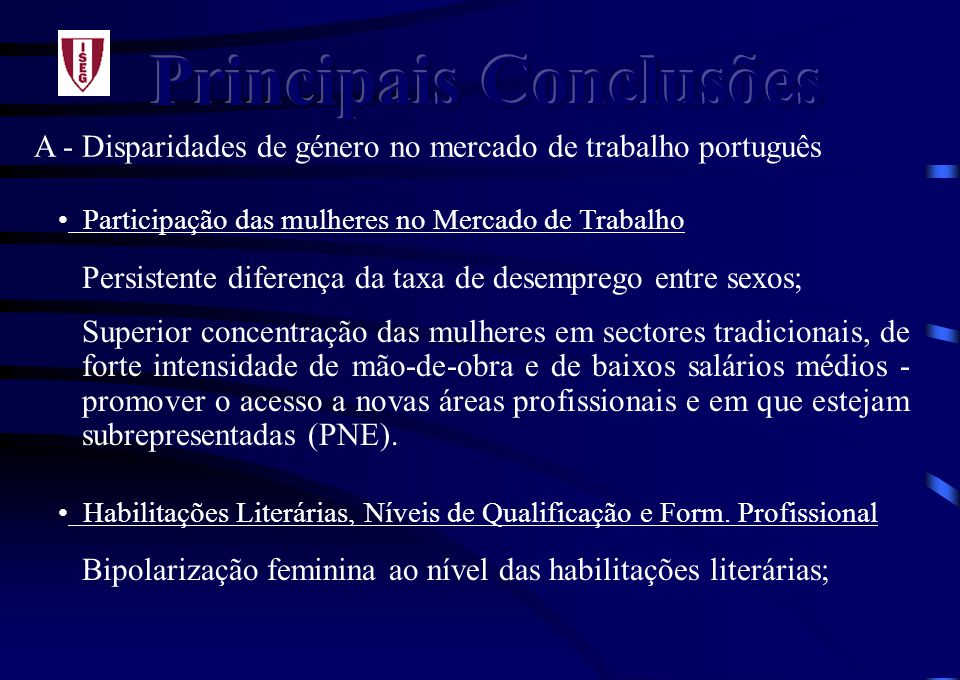 Principais Conclusões