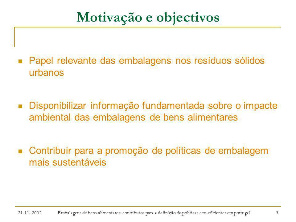 Motivação e objectivos