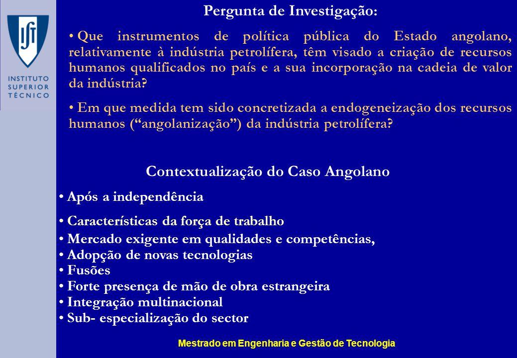 Pergunta de Investigação: Contextualização do Caso Angolano