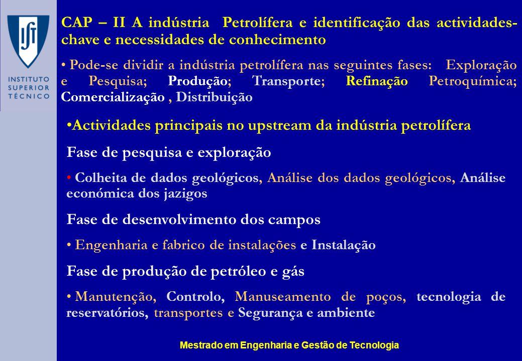 Mestrado em Engenharia e Gestão de Tecnologia