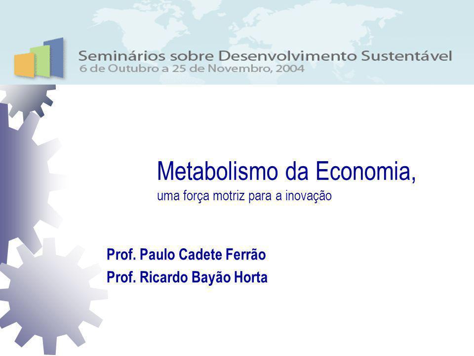 Metabolismo da Economia, uma força motriz para a inovação