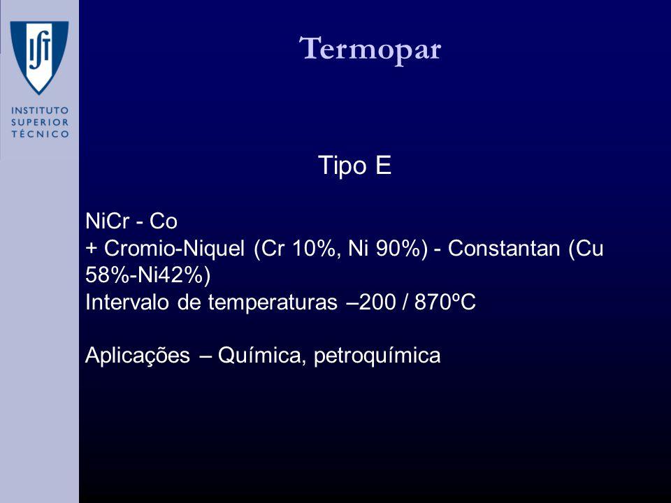 Termopar Tipo E NiCr - Co