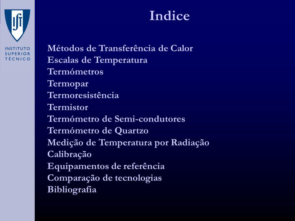 Indice Métodos de Transferência de Calor Escalas de Temperatura
