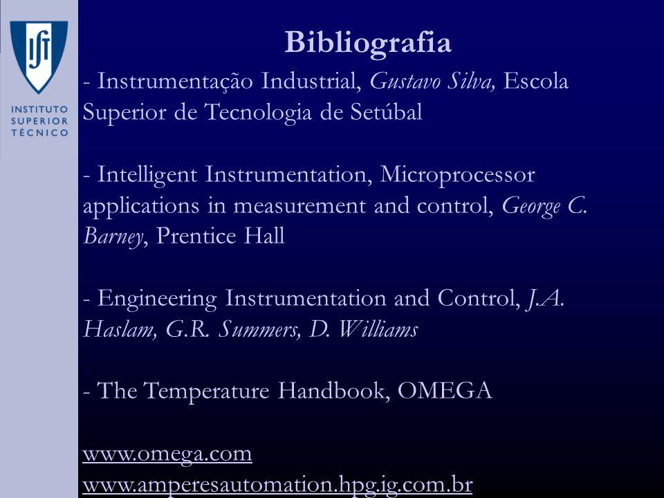 Bibliografia - Instrumentação Industrial, Gustavo Silva, Escola Superior de Tecnologia de Setúbal.