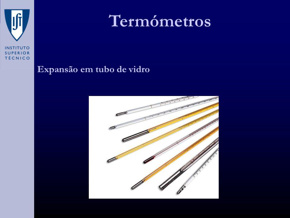 Termómetros Expansão em tubo de vidro